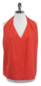 Diane von Furstenberg Coral Draped Sleeveless Top