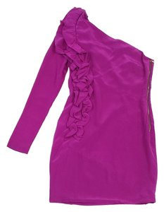 Robert Rodriguez short dress Fuchsia Ruffled One Shoulder on Tradesy