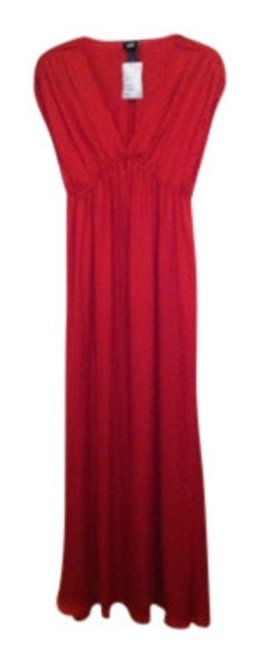 Preload https://item1.tradesy.com/images/h-and-m-red-v-neck-long-casual-maxi-dress-size-6-s-18090-0-0.jpg?width=400&height=650