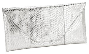 Other Snake Skin Print. Metalic Silver Clutch