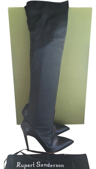 Rupert Sanderson Thigh High Luxury Leather Black Boots