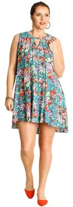 Umgee short dress Jade, Green, Red Free People Florals on Tradesy