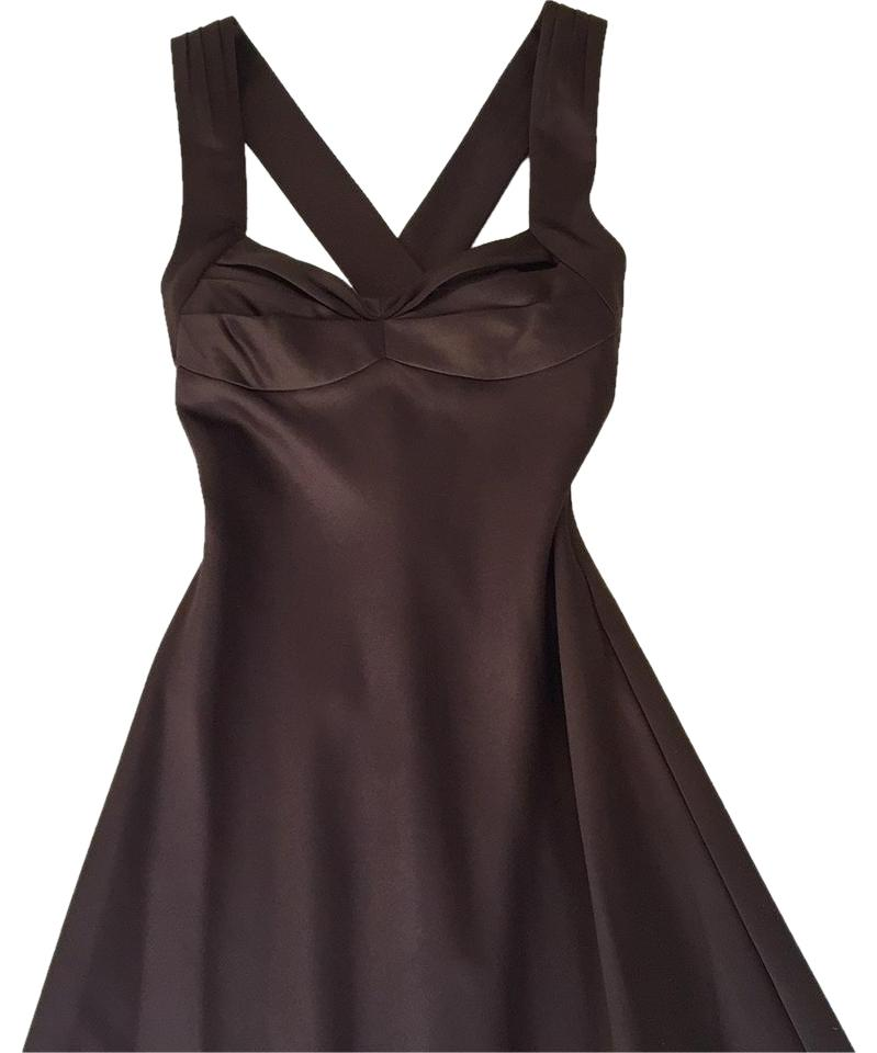 Calvin Klein Wedding Gowns: Calvin Klein Brown Satin Gown Dress