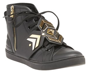 Louis Vuitton Punchy Leather Sneakers Black Athletic