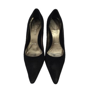 Amalfi Pump Heel Leather Suede BLACK Pumps