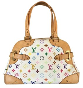 Louis Vuitton Monogram Claudia Tote in White, Multicolor, Multicolore