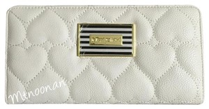 Betsey Johnson Quilted Hearts Bifold Wallet