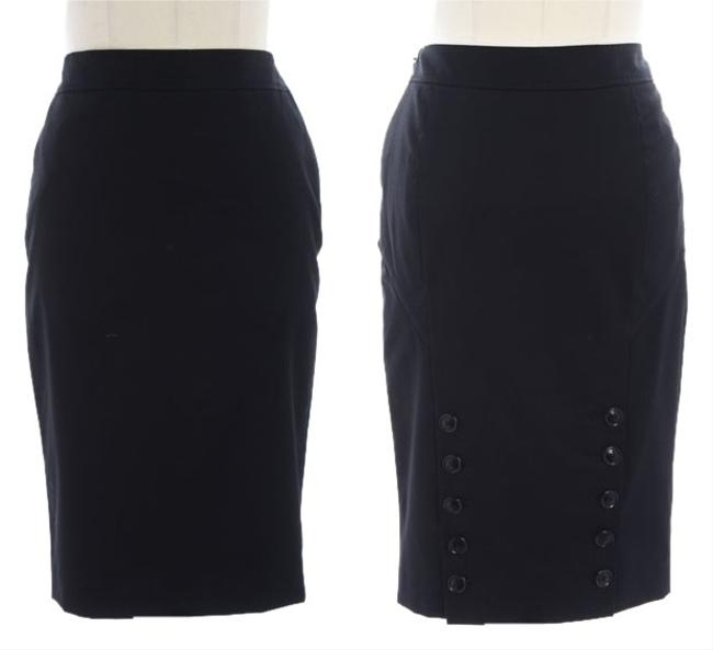 Preload https://item4.tradesy.com/images/ted-baker-black-london-wool-blend-pencil-knee-length-skirt-size-2-xs-26-1809098-0-2.jpg?width=400&height=650