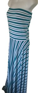 White/Turquoise Maxi Dress by FELICITY & COCO