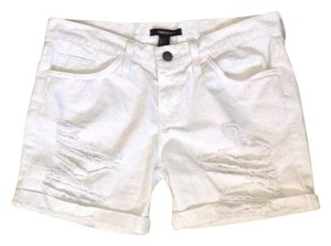 Forever 21 Distressed New Mini/Short Shorts White