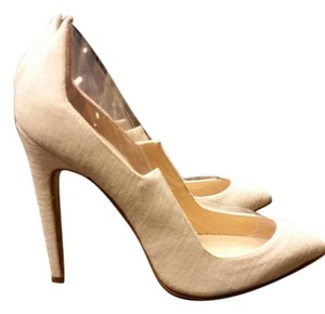Melis yildiz High Heels Sillettos Sexy Celebrity beige and clear plastic Pumps