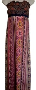 Pink/Navy Maxi Dress by Flying Tomato