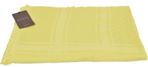 Gucci Gucci Women's 371482 Large Yellow Cotton GG Guccissima Diamante Scarf