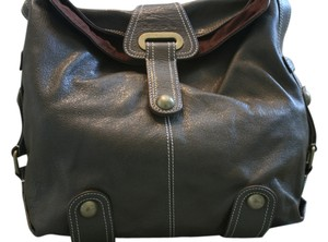 Hype Leather Brass Hardware Hobo Bag