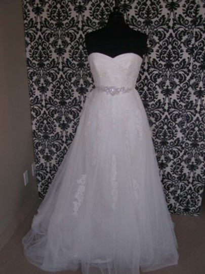 Pronovias Off-white/Ivory Lace Tulle Benjamin Dress Size 6 (S)