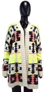 Lush Open Front Cardigan Tribal Chunky Sweater
