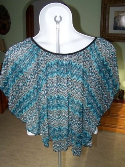 Cocomo Size Xl Shaw Turquoise Black Gray Top MULTI COLOR