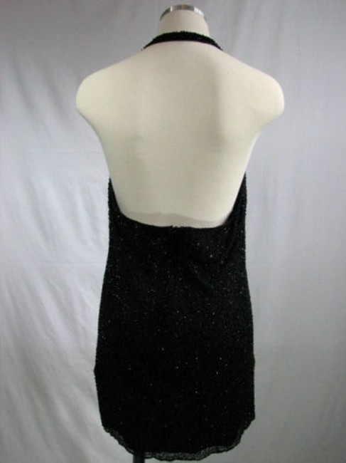 Laundry by Shelli Segal Beaded Cowlneck Dress