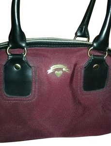 Victoria's Secret Maroon and Black Travel Bag