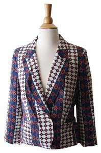 Marc by Marc Jacobs Silk Suit Summer Wear To Work Office Multicolor Blazer