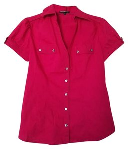 Express #weartowork #shortsleeve Button Down Shirt Rasberry