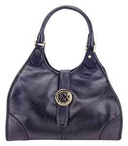 Michael Kors Leather Pvc Satchel Gold Hardware Hobo Shoulder Bag