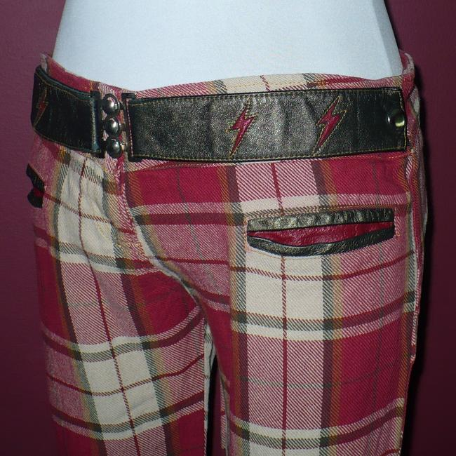 Other Electric Barbarella Flare Pants Red Plaid