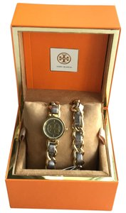 Tory Burch Reva Mini Chain Double Wrap Watch