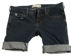 Abercrombie & Fitch Kids Jean Denim Shorts-Dark Rinse