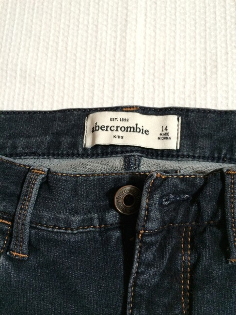 Abercrombie & Fitch Kids Shorts Denim Shorts-Dark Rinse