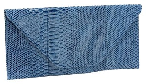 Snakeskin Navy Blue Clutch