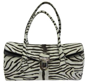 Prada Genuine Fur Calf Fur Zebra Shoulder Bag