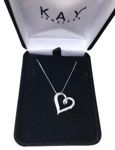 Kay Jewelers Diamond Heart Necklace 1/10 carat tw Sterling Silver