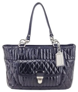 Coach Leather Tote Quilted Shoulder Bag