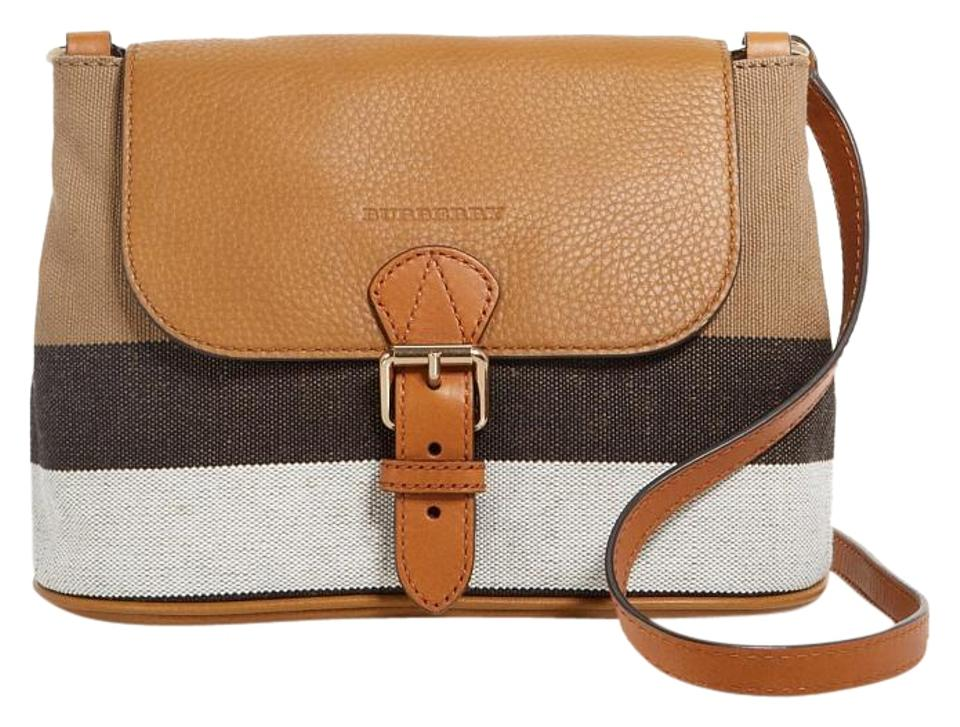 9d231d1793f8 Burberry Small Gowan Check Print Brown Leather Cross Body Bag - Tradesy