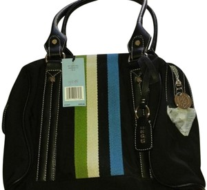 Izod Mez000112 Canvas/nylon New Satchel in Black/Multi
