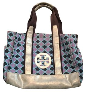 Tory Burch Tote in Blue, Navy, Purple, Silver