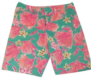 Lilly Pulitzer Bermuda Shorts Blue/pink/yellow