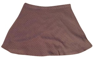 Wet Seal Dot Mini Skirt Brown w/ Polka Dots