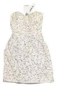 short dress Cream With Silver And White Beads on Tradesy