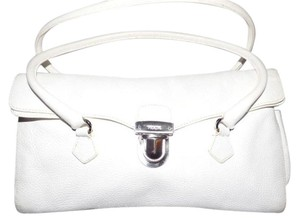 Prada Dressy Or Casual Timeless Style Mint Condition Has Cards/dust Satchel in white pebbled leather
