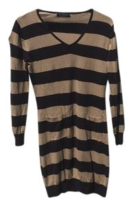 Robin short dress Black and Beige Sweater on Tradesy