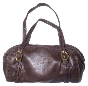 Paolo Masi Timeless Style Lots Of Pockets/Room Mint Condition Tote/Satchel Brass Hardware Satchel in brown leather