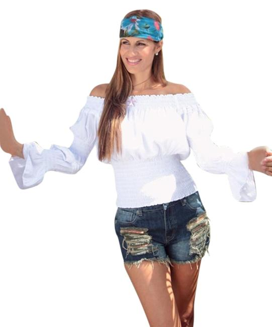 Preload https://img-static.tradesy.com/item/1809491/lirome-white-organic-cotton-off-shoulders-ruched-sleeves-ave-rosa-boho-blouse-size-12-l-0-2-650-650.jpg