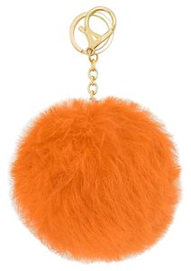 Peachy Pom Pom Rabbit Fur Bag/Purse Charm Key Chain