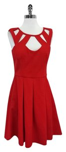 Betsey Johnson short dress Red Cutout Fit & Flared on Tradesy