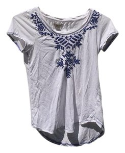 Lucky Brand T Shirt White and blue