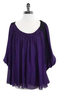 Diane von Furstenberg Purple Silk Top