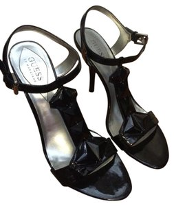 Guess By Marciano Patent Heels Black Sandals
