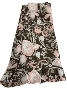 Worthington Date Night Office Professional Skirt Brown/Pink/Beige